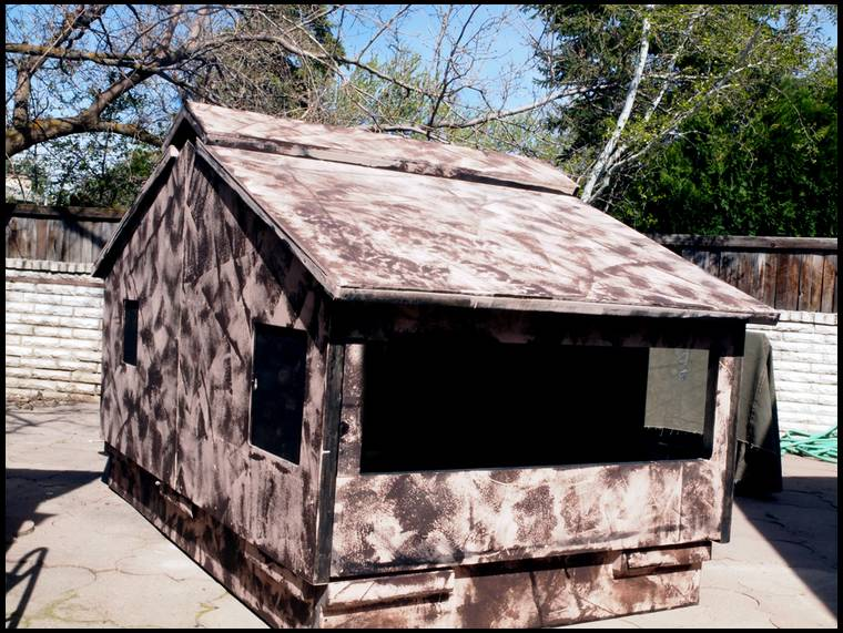 Small Portable Blinds : Ground blind for waterhole