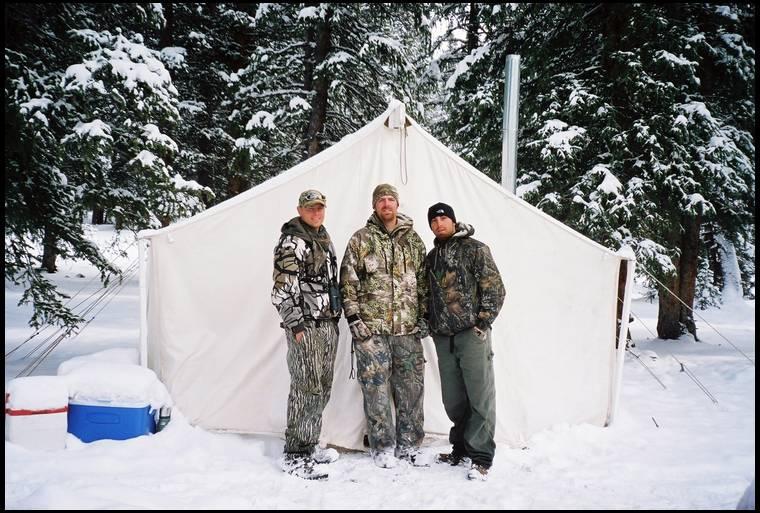 Hunting camp pictures for Wall tent idaho