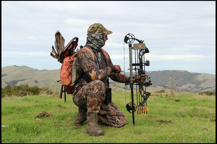 Bow Holders For In A Ground Blind