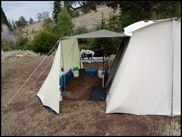 Camp Shower And Tents