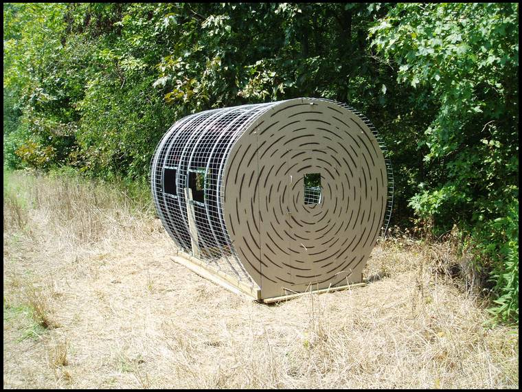 Hay Bale Blinds