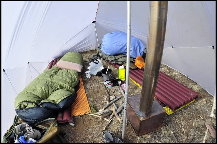 Ermineu0027s embedded Photo & Letu0027s see ultralight tent/teepee/stoves