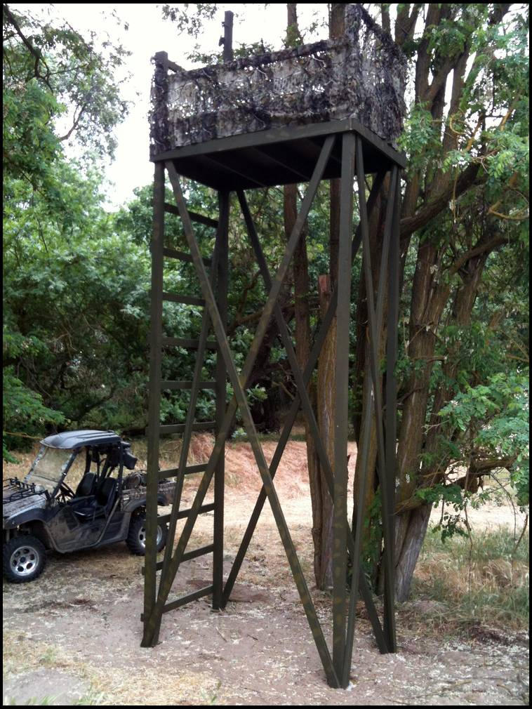 Homemade tree stand ideas for Deer hunting platforms