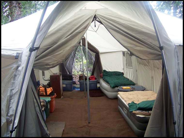 Wall Tent Question Size