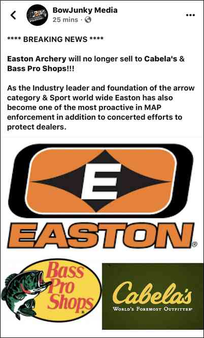 No Easton at Cabelas/BP?! on